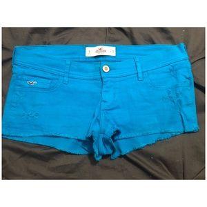 Turquoise hot shorts